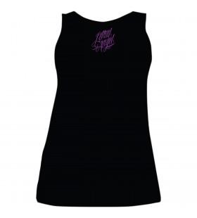 WOMENS PURPLE ROSE SKULL CURVY SIZE TANK TOP BLACK 30313371