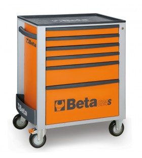 BETA Mobile Roller Cab with six drawers Orange 51200005