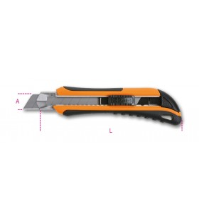 BETA 1771MB Utility Knife 18mm with 6 spare Blades 55000038