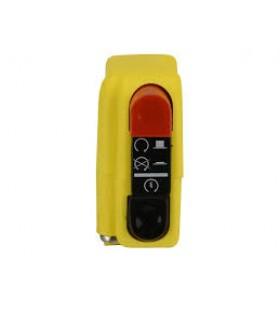 Botão on/off com arranque 9A Domino amarelo 0416AB.9A