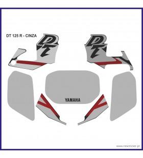 KIT  AUTOCOLANTE  DT125R CINZA (J) YAMAHA DT 125R / DTR 125