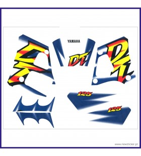 KIT AUTOCOLANTE DT125R AZ/PR/AMAR/VERM (J) YAMAHA DT 125R /