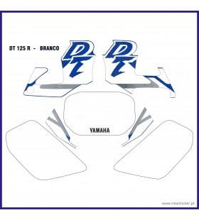 KIT AUTOCOLANTE  DT125R BRANCO AZUL (J) YAMAHA DT 125R / DTR