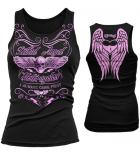 LETHAL THREAT WOMENS I COME FIRST TANK TOP BLACK 30312951