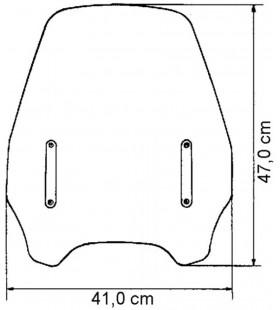 Viseira universal para motos naked - vidro ALTO frontal de p
