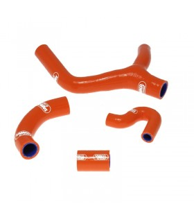 Kit tubos radiador Samco  KTM 400 EXC 08 - 11 LARANJA