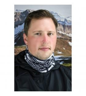 ZAN HEADGEAR  MOTLEY TUBE™ FLEECE HOUNDSTOOTH BLACK WHITE