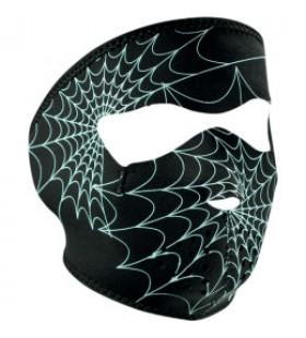 ZAN HEADGEAR  FULL FACE MASK GLOW-IN-THE-DARK SPIDER WEB ONE
