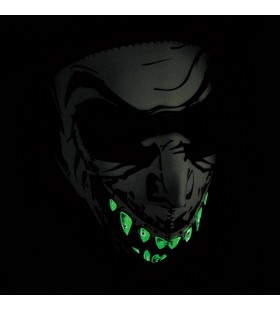 ZAN HEADGEAR  FULL FACE MASK GLOW-IN-THE-DARK VAMPIRE ONE SI