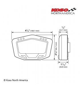 Painel universal KOSO DB-02 com batería interna