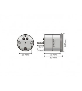 Conta rotações universal KOSO D48 GP Style 48mm